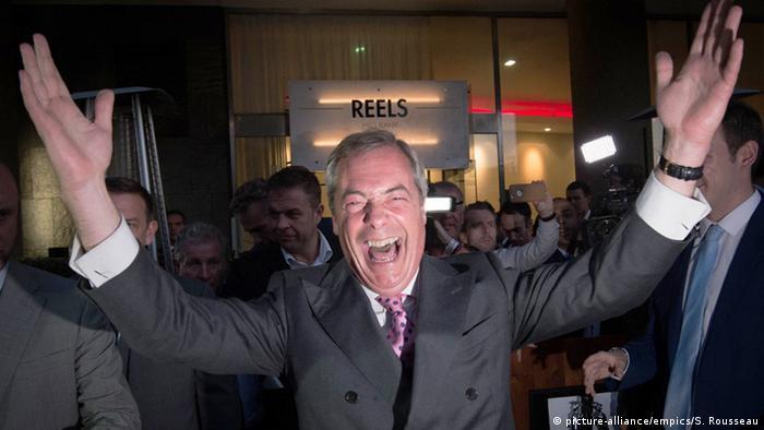 London UKIP Vorsitzender Nigel Farage
