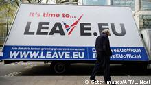 London EU Referendum Kampagne Leave.eu Brexit Symbolbild