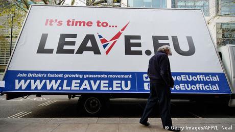 London EU Referendum Kampagne Leave.eu Brexit Symbolbild