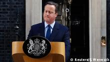 24.06.2016 Britain's Prime Minister David Cameron speaks after Britain voted to leave the European Union, outside Number 10 Downing Street in London, Britain June 24, 2016. REUTERS/Stefan Wermuth Copyright: Reuters/S. Wermuth