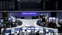 24.06.2016 Traders prepare before the opening of the German stock exchange in front of the empty DAX board, at the stock exchange in Frankfurt, Germany, June 24, 2016 after Britain voted to leave the European Union in the EU BREXIT referendum. REUTERS/Staff/Remote Copyright: Reuters