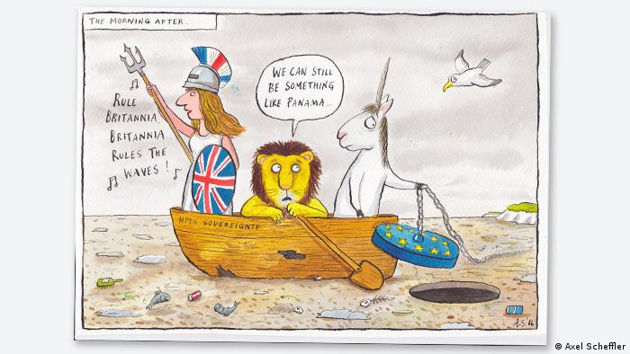 'Gruffalo' illustrator Axel Scheffler's cartoon on Brexit, Copyright: Axel Scheffler