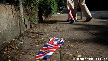 June 24, 2016 A British flag which was washed away by heavy rains the day before lies on the street in London, Britain, June 24, 2016 after Britain voted to leave the European Union in the EU BREXIT referendum. REUTERS/Reinhard Krause Copyright: Reuters/R. Krause