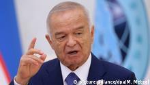 Islam Karimov Treffen der Regionalorganisation Shanghai-Organisation für Zusammenarbeit SCO