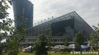 строящаяся к ЧМ-2018 новая арена ЦСКА на Ходынке в Москве