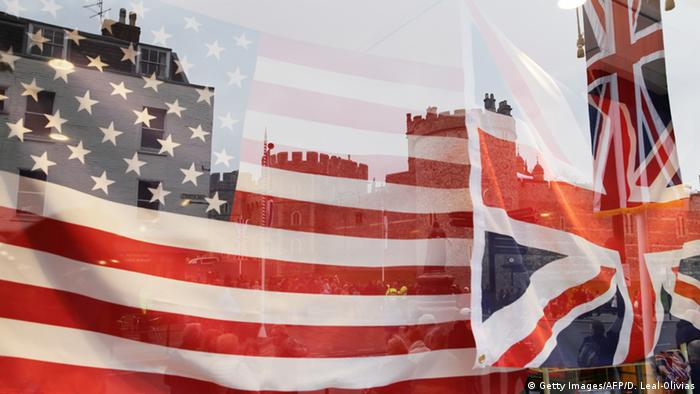 American and British flag (Getty Images/AFP/D. Leal-Olivias)