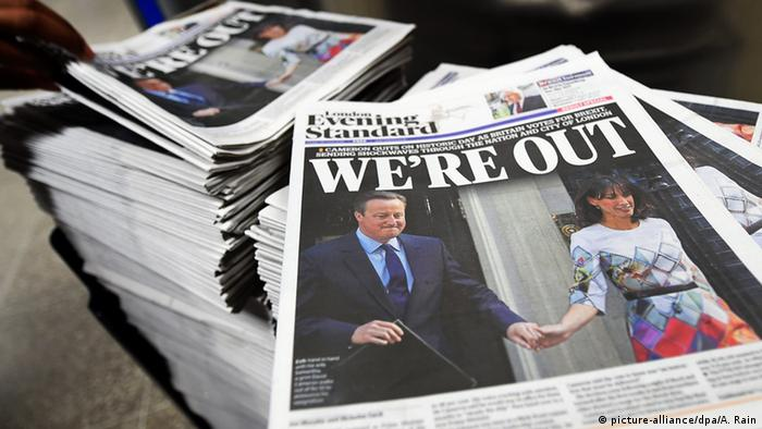 Британские газеты после объявления результатов референдума