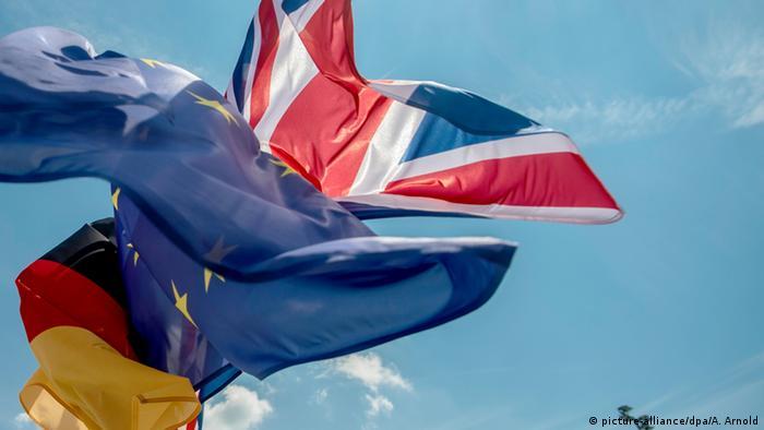 Britische europäische und Deutsche Flagge Berlin