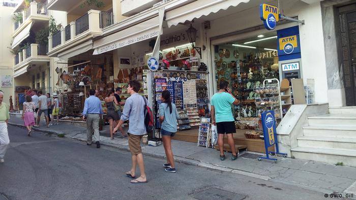 Street, shops in Greece