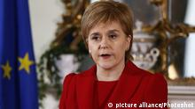Schottland Nicola Sturgeon in Edinburgh