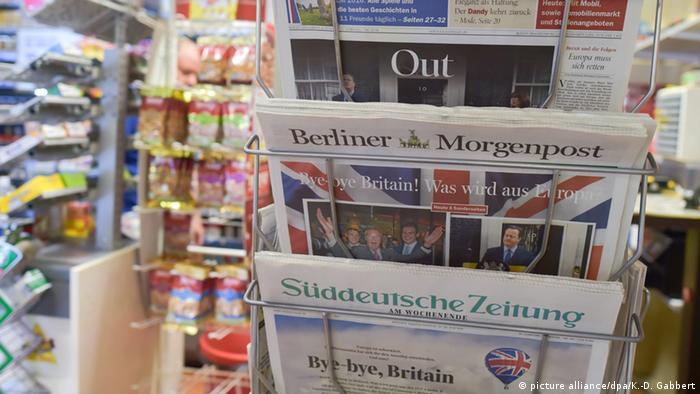Немецкие газеты, вышедшие после британского референдума