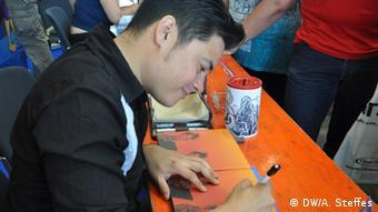 Marvin Clifford signiert Comics in Stuttgart, Foto: A. Steffes