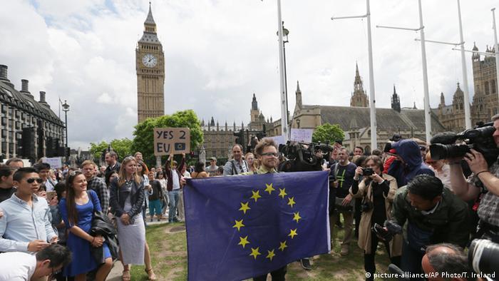 демонстранты в Лондоне против Brexit