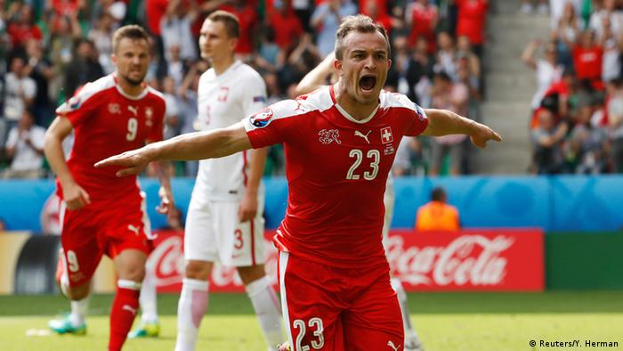 UEFA EURO 2016 - Achtelfinale   Schweiz vs. Polen - Tor Xherdan Shaqiri