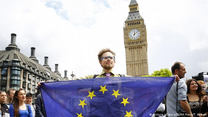 تظاهرات اعتراضی طرفداران اتحادیه اروپا در لندن