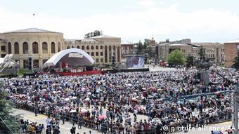 Στιγμιότυπο από την επίσκεψη του Πάπα Φραγκίσκου στην Αρμενία το 2016