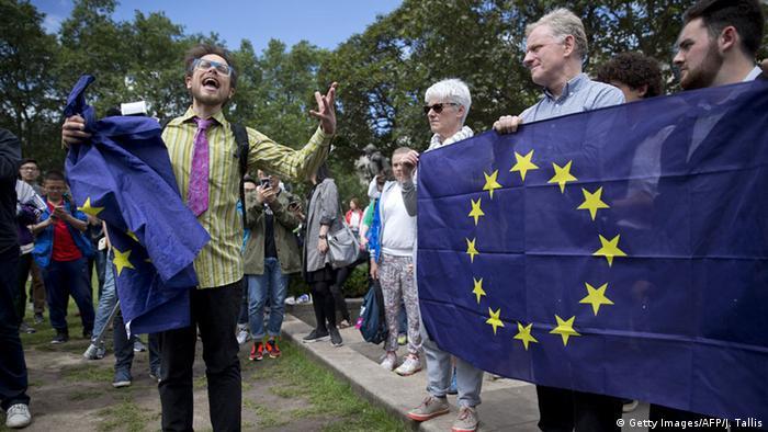 Демонстрация против выхода из ЕС в Лондоне