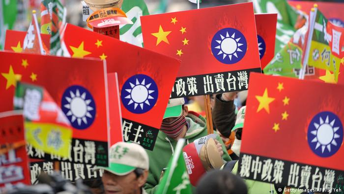 Taiwan Taichung Demonstration Anti China Annäherung