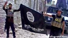 26.06.2016 This image made from Associated Press video shows, Iraqi troops turn the Islamic State flag upside down in Fallujah, Iraq, Sunday, June 26, 2016. A senior Iraqi commander declared that the city of Fallujah was fully liberated from Islamic State group militants on Sunday, after a more than monthlong military operation. (AP Video via AP) Copyright: picture alliance/AP Photo
