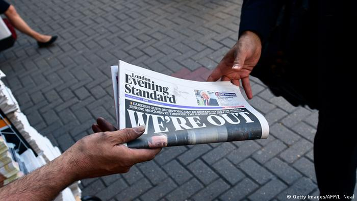 England Brexit Zeitung Evening Standard (Getty Images/AFP/L. Neal)