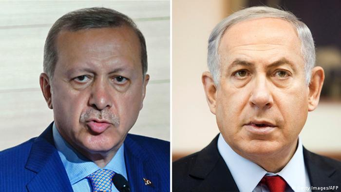 Recep Tayyip Erdoğan e Benjamin Netanyahu