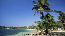 Beach at resort of West End, on Roatan, largest of the Bay Islands, Honduras, Caribbean, Central America | Verwendung weltweit, Keine Weitergabe an Wiederverkäufer. Copyright: picture alliance/R. Francis/robertharding