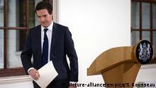 Großbritannien Finanzminister George Osborne zu EU-Referendum