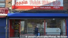 March 25, 2015 The Jaasia Polski Skelp (Jaasia Polish Shop) contributing to the UK economy. -- The immigration debate in the United Kingdom centres on immigrant contributions to society. The Jaasia Polski Skelp (Jaasia Polish Shop) contributes a diversity of products, as with other shops, to people that would not be otherwise available as well as employing people, purchasing goods and paying tax in to the local and national exchequer. Location: Stockport, England, UK on March 25, 2015. Copyright: picture-alliance/NurPhoto/J. Nicholson