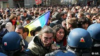 Studentenproteste in Frankreich