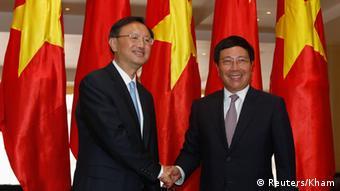 Vitenam Hanoi Yang Jiechi trifft Vietnams vizepremierminister Pham Binh Minh