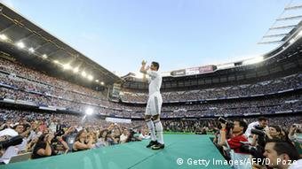Real Madrid Vorstellung Cristiano Ronaldo 2009 (Getty Images/AFP/D. Pozo)