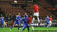 MOSCOW - MAY 21: Cristiano Ronaldo of Manchester United heads the opening goal during the UEFA Champions League Final match between Manchester United and Chelsea at the Luzhniki Stadium on May 21, 2008 in Moscow, Russia. (Photo by Jamie McDonald/Getty Images) Copyright: Getty Images/J. McDonald