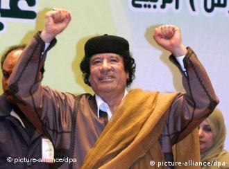 Grund zur Freude für den libyschen Staatschef Muammar el Gaddafi (Archiv-Foto)