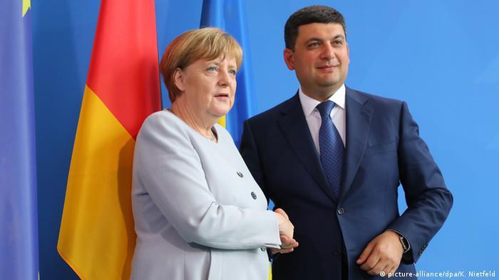 Ангела Меркель и Владимир Гройсман