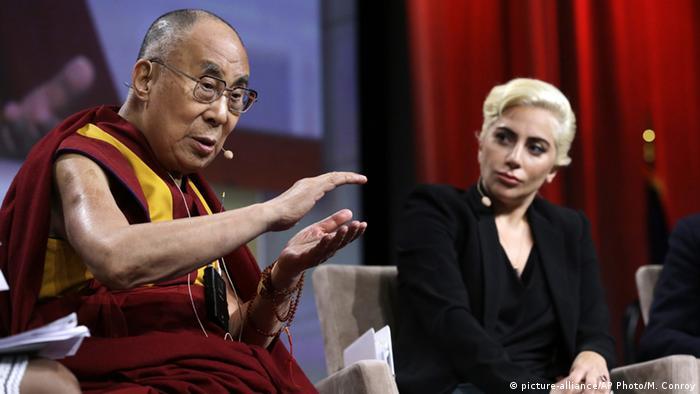 USA Indianapolis Dalai Lama trifft auf Lady Gaga