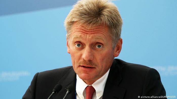 Russland Regierungssprecher Dmitri Peskow