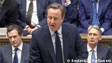 England Parlamentssitzung Premierminister David Cameron