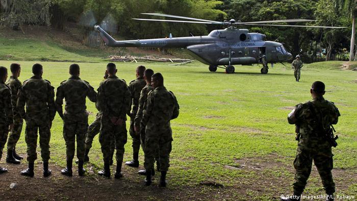 Kolumbien Hubschrauber MI 17