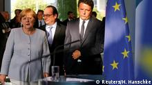 Merkel, Renzi și Hollande la Berlin, după primul summit în trei, imediat după Brexit