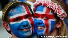 27.06.2016+++++ Football Soccer - England v Iceland - EURO 2016 - Round of 16 - Stade de Nice, Nice, France - 27/6/16 Iceland fans before the game REUTERS/Kai Pfaffenbach Livepic Copyright: Reuters/K. Pfaffenbach