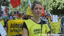 Deutschland Amnesty-Demo vor Botschaft der Türkei