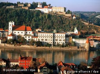 Passau a orillas del Inn.