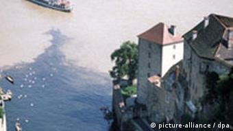 Passau der Zusammenfluß von Ilz und Donau
