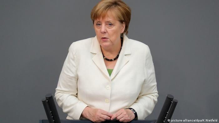 Angela Merkel addressing the Bundestag after the Brexit vote