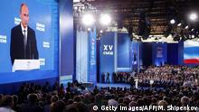 Russland Parteitag Einiges Russland Rede Putin