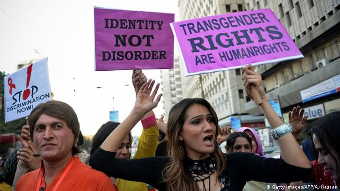 Transgender men protesting in Pakistan (Getty Images/AFP/A. Hassan)