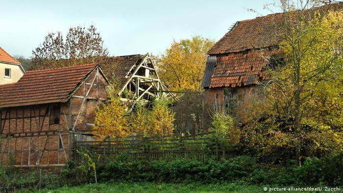 Deutschland verlassener Bauernhof in Hessen