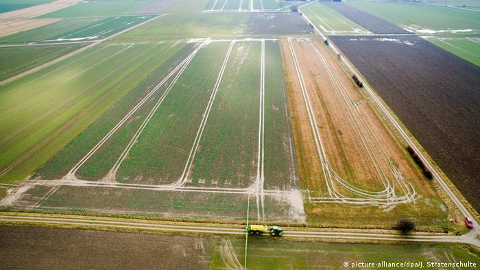 Luftbild von Feldern in Niedersachsen