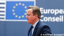 David bald allein zu Hause: Premier Cameron muss viel erklären in Brüssel