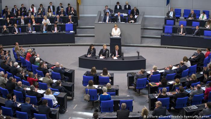 Deutschland Regierungserklärung zu Brexit - Angela Merkel im Bundestag